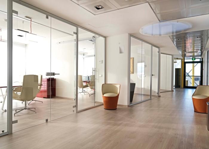 Wanden gelaagd glas for Studio legale arredamento